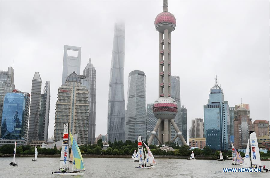 Sailboats are seen on the Huangpu River during activity marking the 2018 Maritime Day of China in east China\'s Shanghai, July 11, 2018. The 2018 Maritime Day of China was observed on July 11. (Xinhua/Fang Zhe)    As China International Import Expo (CIIE) is only a month away, Shanghai, host of the event, has reached the final stage of its preparations.  Now, let\'s have a glimpse on the different aspects of Shanghai, one of China\'s biggest cities -- from its busy economic life, vivid cultural scene and passionate sports contests to its blend of traditional and modern way of life.