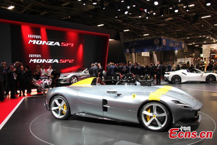 Cars presented at the Paris Motor Show in Paris. (Photo: China News Service/Li Yang)