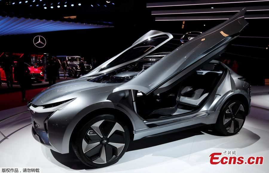 The GAC Motor Enverge is seen on the second press day of the Paris Motor Show, in Paris, France, October 3, 2018. (Photo/Agencies)