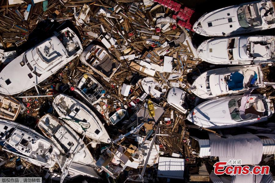 In this aerial view, storm damaged boats are seen in the aftermath of Hurricane Michael on Oct. 11, in Panama City, Florida. (Photo/Agencies)