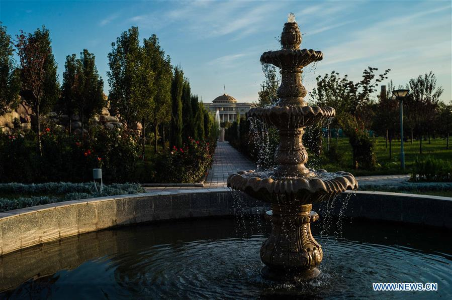 Photo taken on Oct. 11, 2018 shows a view of Dushanbe, Tajikistan. (Xinhua/Wu Zhuang)