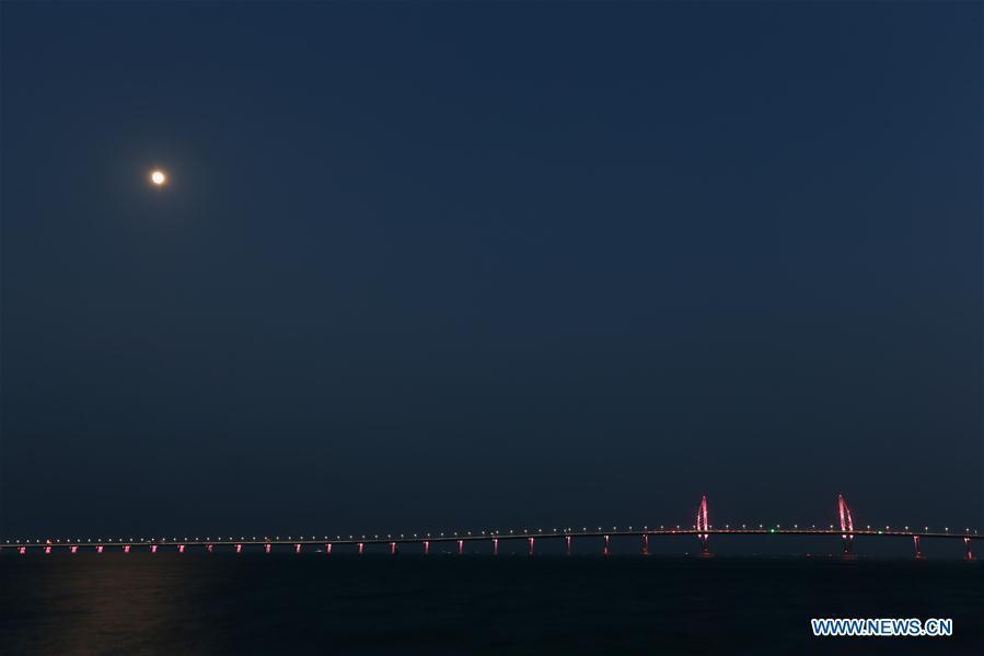 Photo taken on Oct. 22, 2018 shows the Hong Kong-Zhuhai-Macao Bridge. (Xinhua/Zhang Jiayang)