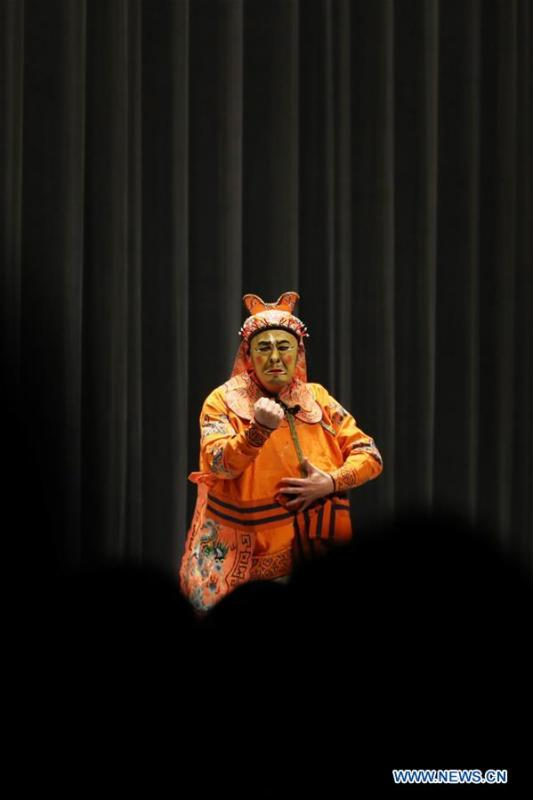 A trouper from China\'s Shanghai Kunqu Opera Troupe performs Kunqu Opera \