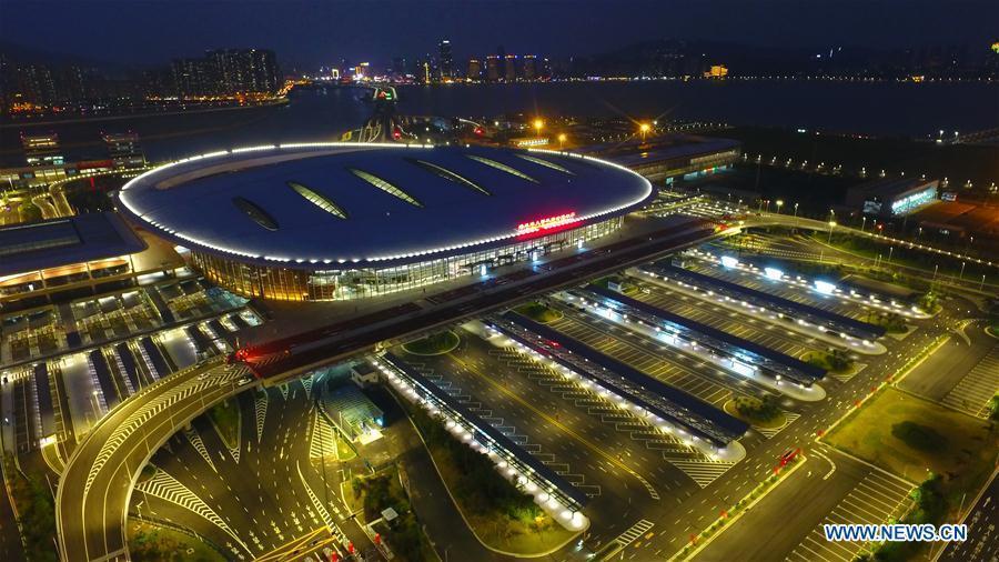 Photo taken on Oct. 20, 2018 shows the Zhuhai Port of the Hong Kong-Zhuhai-Macao Bridge. (Xinhua/Liang Xu)
