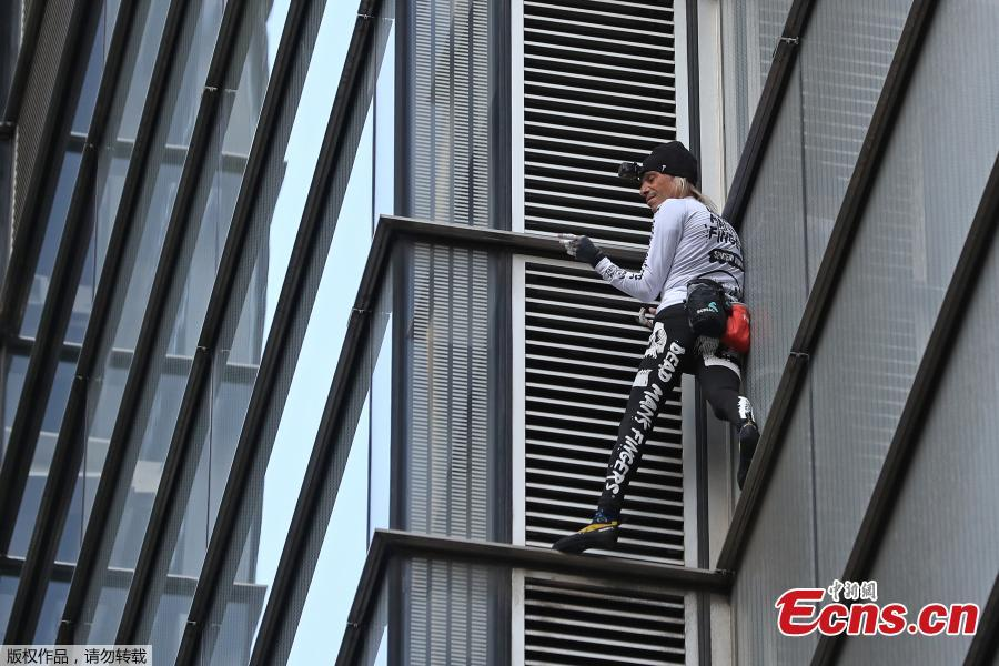 French urban climber Alain Robert, also known as \