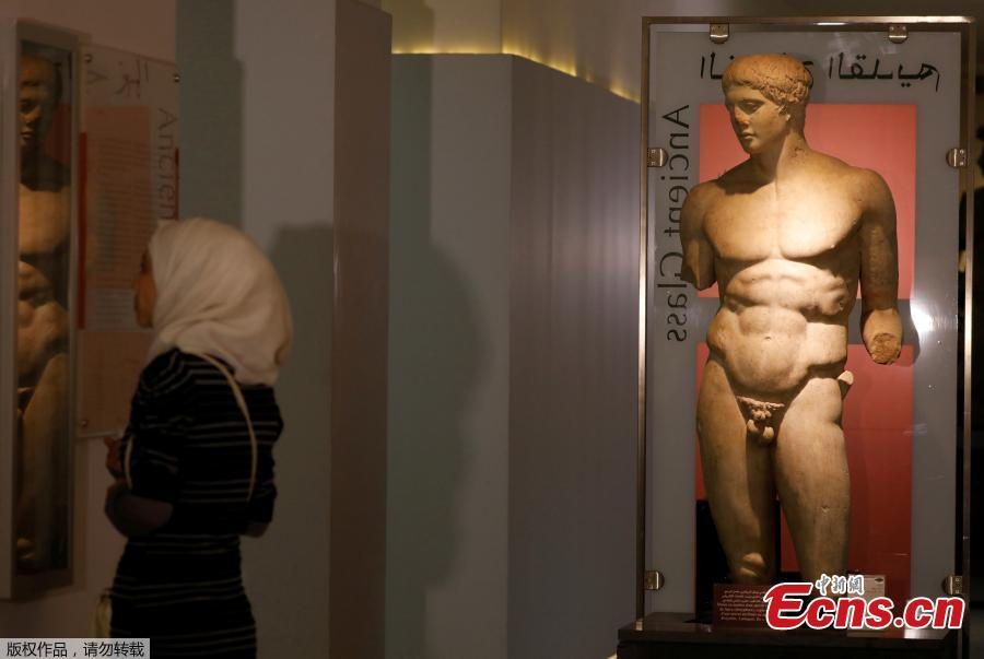 A sculpture is displayed during the reopening of Syria\'s National Museum of Damascus, Syria October 28, 2018.  (Photo/Agencies)