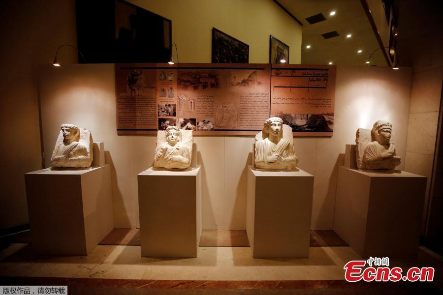 Restored sculptures are displayed in an exhibition, at the Opera house in Damascus, Syria October 3, 2018. (Photo/Agencies)