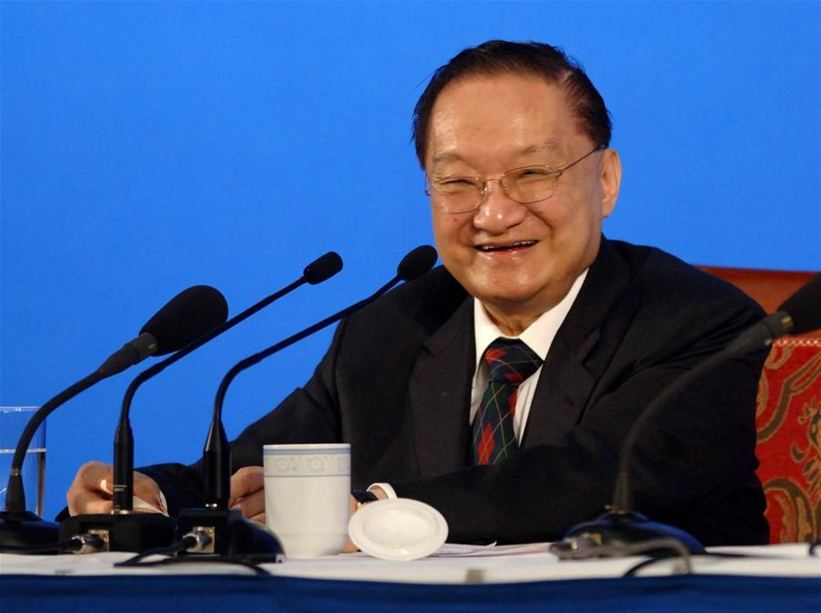 In this file photo, Jin Yong is invited to give a speech at Peking University in Beijing, capital of China, on June 18, 2007. Famous Chinese martial arts novelist Louis Cha Leung-yung, more widely known by his pen name Jin Yong, died at 94 at a hospital in Hong Kong on Tuesday. Cha created many widespread martial arts novels between 1955 and 1972. Cha, who also co-founded the Hong Kong daily newspaper Ming Pao, has been regarded as one of the greatest and most popular martial arts writers. (Xinhua/Luo Xiaoguang)