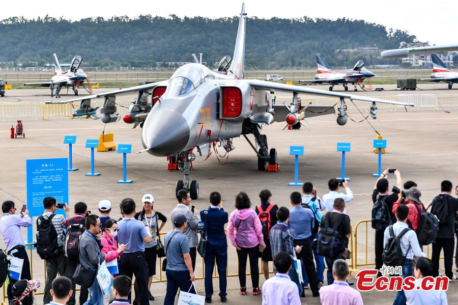 The 12th Airshow China, one of the world\'s top air shows, opens in port city of Zhuhai, Guangdong Province on November 6, 2018.  (Photo: China News Service/Chen Jimin)