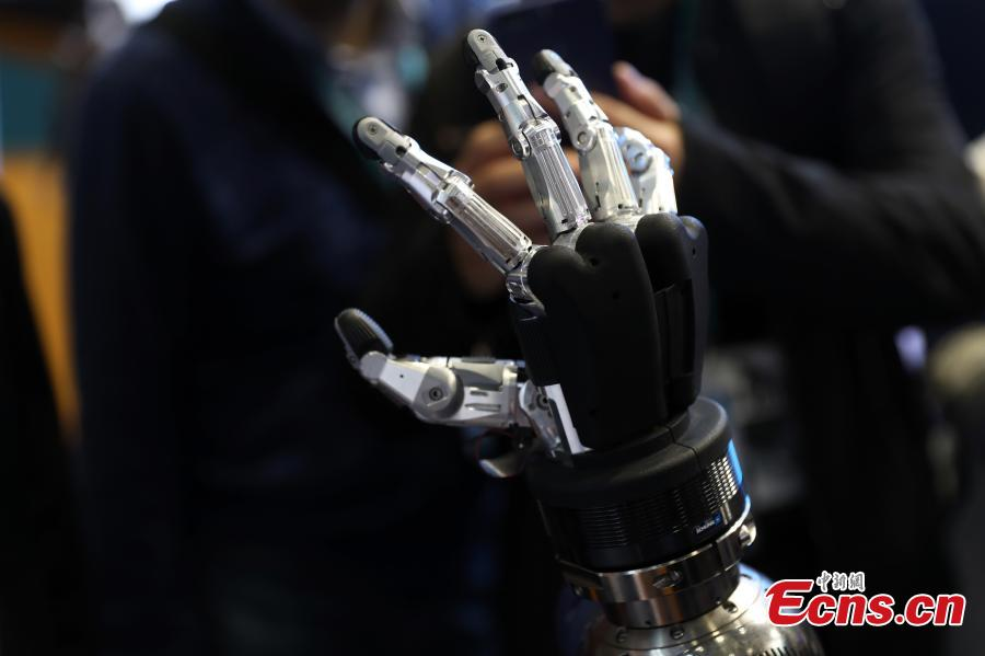 Robotic hand shown at import expo