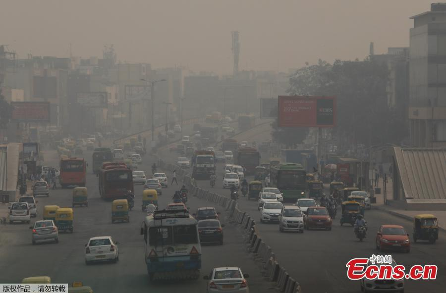 <?php echo strip_tags(addslashes(Vehicles drive through smog in New Delhi, India, November 8, 2018.  (Photo/Agencies))) ?>