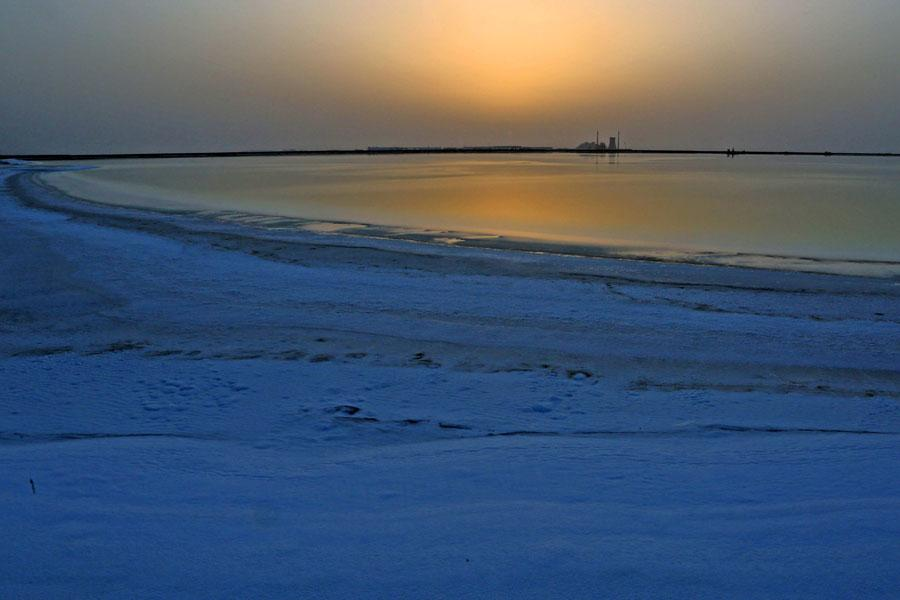 A salt lake in Xinjiang Uygur autonomous region. (Photo/chinadaily.com.cn)