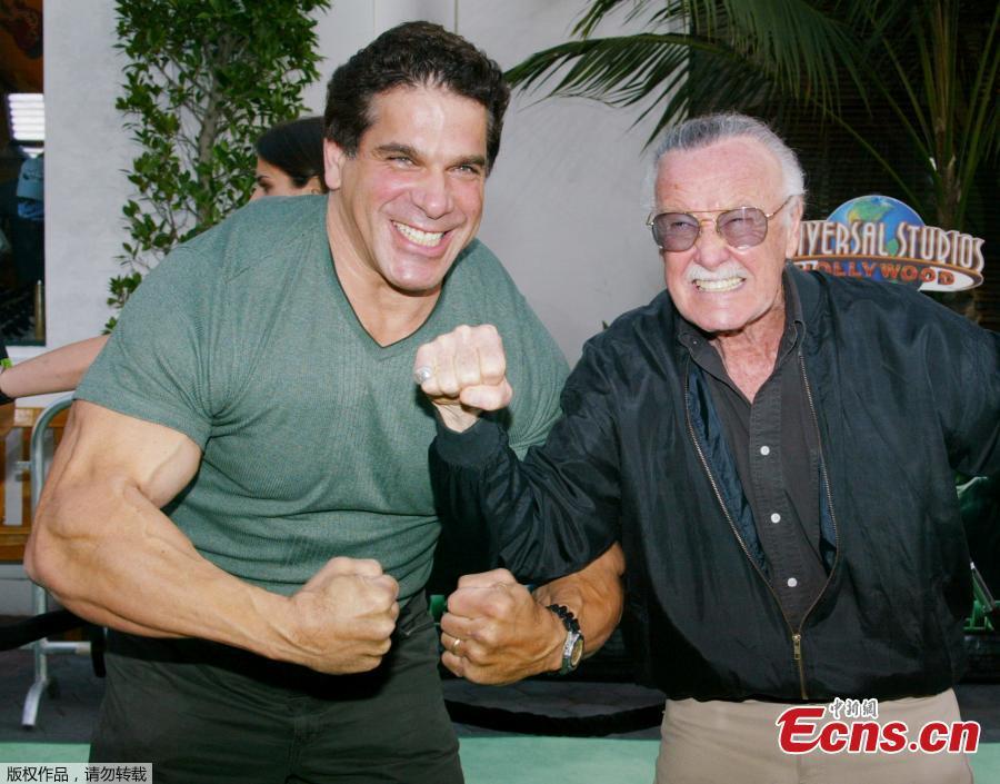 File photo: Stan Lee (R) creator of comic book character \