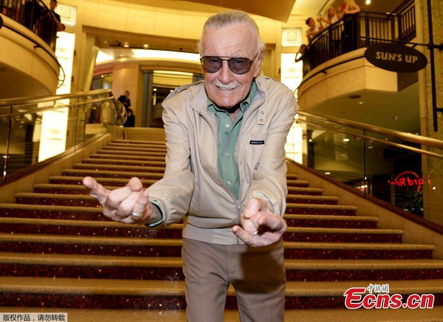 File photo: Stan Lee, 92-year-old comic book legend, poses during premiere of Marvel\'s \