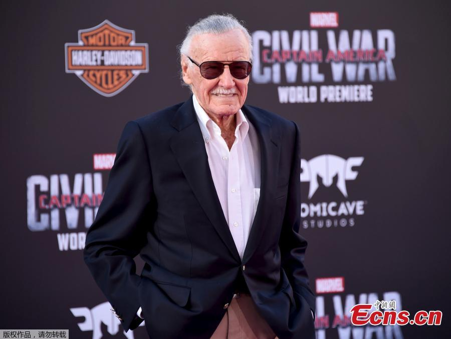 File photo: Executive producer Stan Lee attends the premiere of \