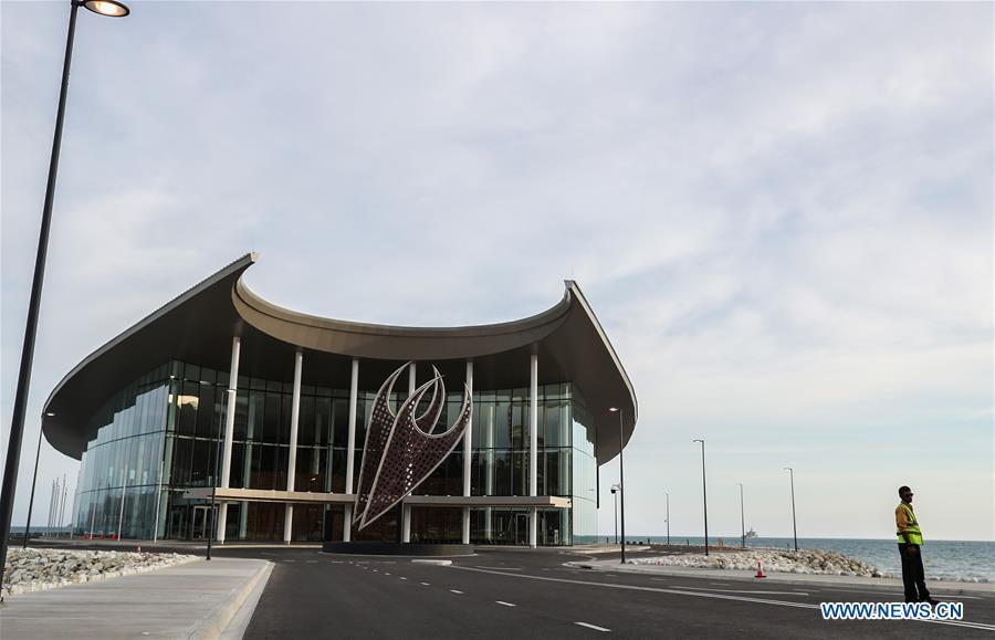 Photo taken on Nov. 11, 2018 shows the Leaders\' Conference Centre, the APEC Haus, in Port Moresby, Papua New Guinea. Leaders from the Asia-Pacific economies are gathering in Port Moresby, the capital of Papua New Guinea for the Asia-Pacific Economic Cooperation (APEC) Leaders\' Week on Nov. 12-18. (Xinhua/Bai Xuefei)