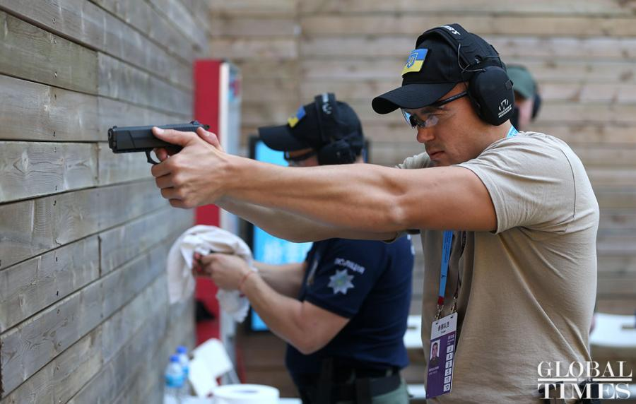 The 2nd USIP World Police Service Pistol Shooting Competition will kick off in Foshan, Guangdong Province, on Nov. 14. 69 delegations from 68 countries and regions have joined in the competition. (Photos: Cui Meng/GT)