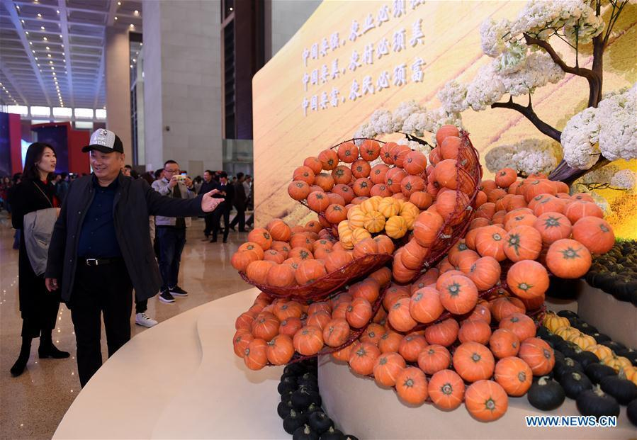 People visit a major exhibition to commemorate the 40th anniversary of China\'s reform and opening-up at the National Museum of China in Beijing, capital of China, Nov. 14, 2018. (Xinhua/Luo Xiaoguang)