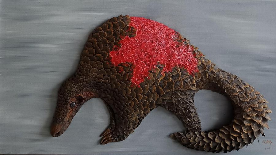 A pangolin killed by scaling (Photo provided to China Daily)