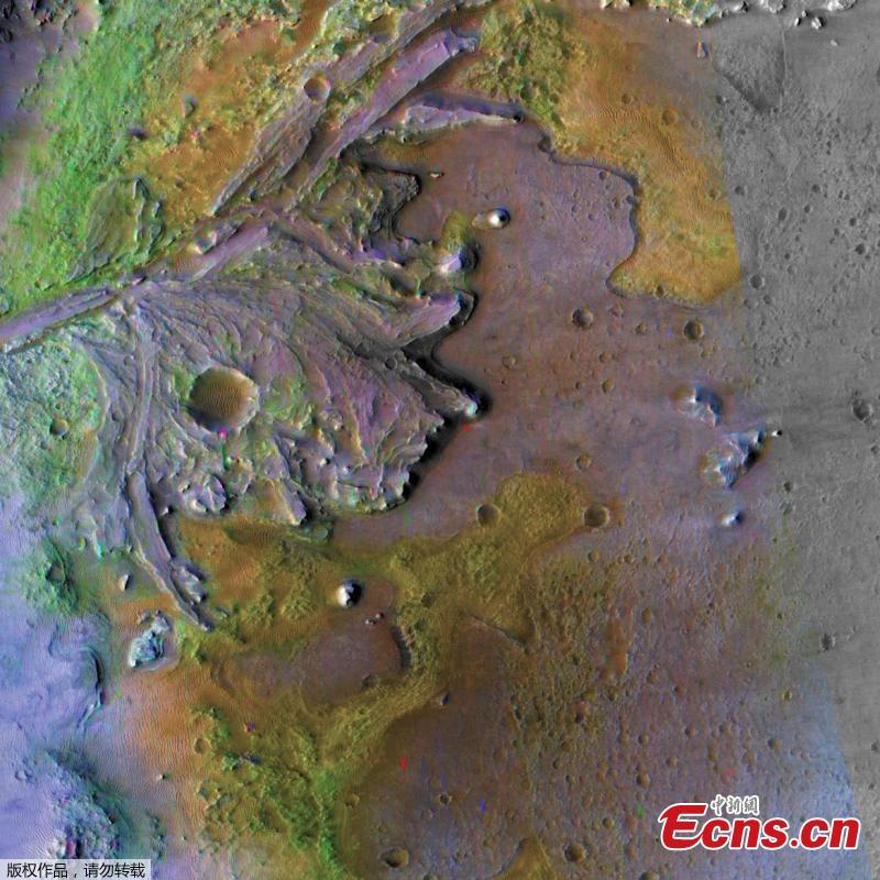 NASA has chosen Jezero Crater as the landing site for its upcoming Mars 2020 rover mission after a five year search, during which every available detail of more than 60 candidate locations on the Red Planet was scrutinized and debated by the mission team and the planetary science community. The rover mission is scheduled to launch in July 2020 as NASA's next step in exploration of the Red Planet. It will not only seek signs of ancient habitable conditions-and past microbial life-but the rover also will collect rock and soil samples and store them in a cache on the planet\'s surface. NASA and ESA (European Space Agency) are studying future mission concepts to retrieve the samples and return them to Earth, so this landing site sets the stage for the next decade of Mars exploration. (Photo/Agencies)