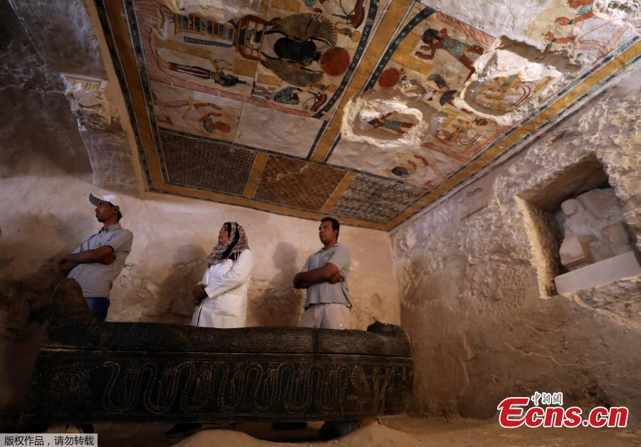 A view inside the newly discovered tomb at al-Assassif Necropolis in Luxor, Egypt November 24, 2018. (Photo/VCG)