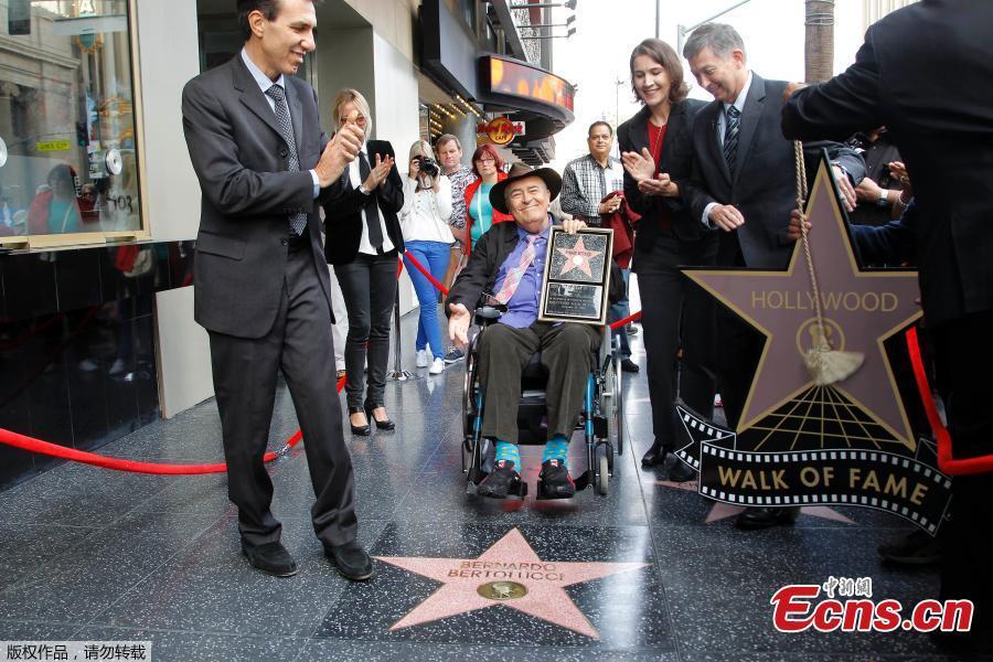 A file photo of Italian director Bernardo Bertolucci. Italian film director Bernardo Bertolucci, whose films include \