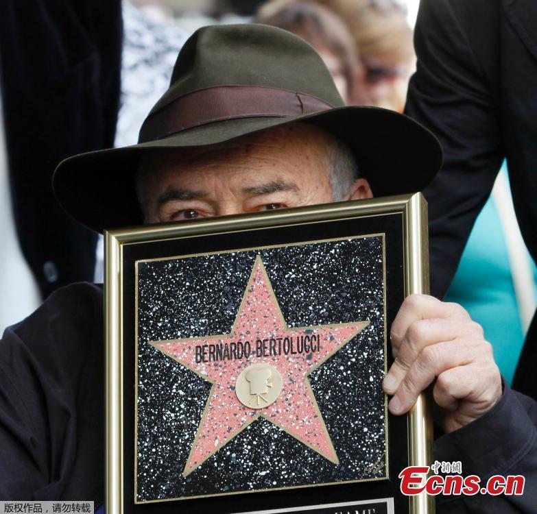 A file photo of Italian director Bernardo Bertolucci.Italian film director Bernardo Bertolucci, whose films include \