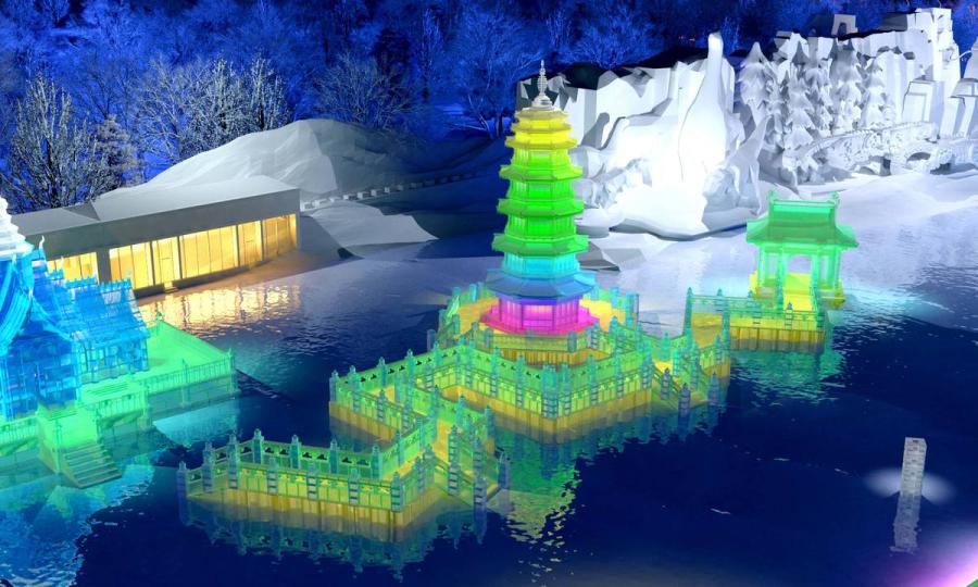 A design sketch for traditional Chinese architecture.  (Photo provided to chinadaily.com.cn)