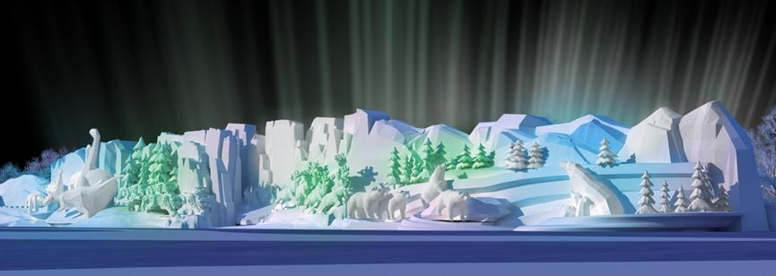 A large snow sculpture planned for the park. (Photo provided to chinadaily.com.cn)