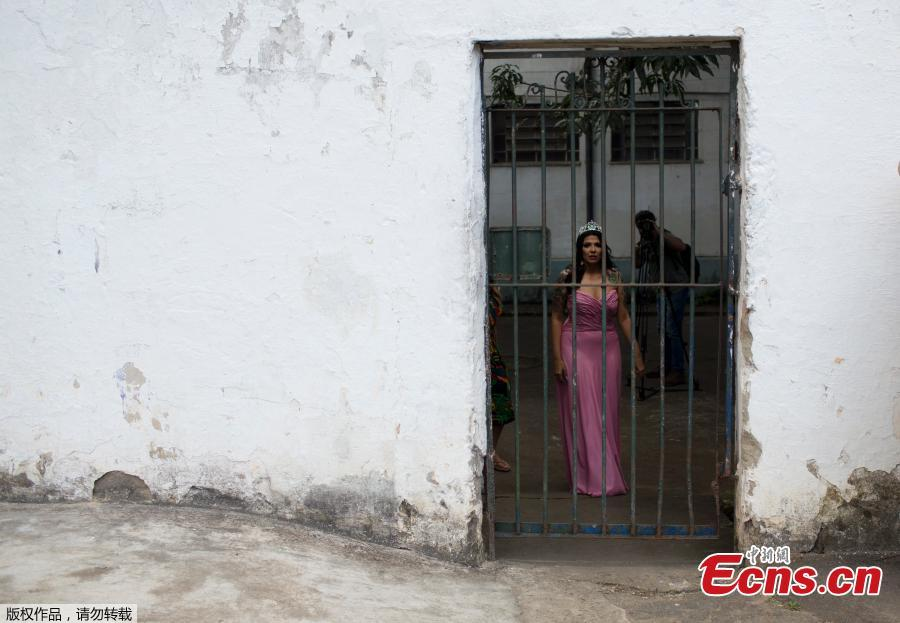 Miss Talavera Bruce 2017 Mayana Rosa Alves waits to participate in the 13th annual beauty contest at the Talavera Bruce penitentiary in Rio de Janeiro, Brazil, Tuesday, Dec. 4, 2018. Jail authorities say they organize the contests to encourage self-esteem, fight idleness and promote integration among women prisoners. (Photo/Agencies)