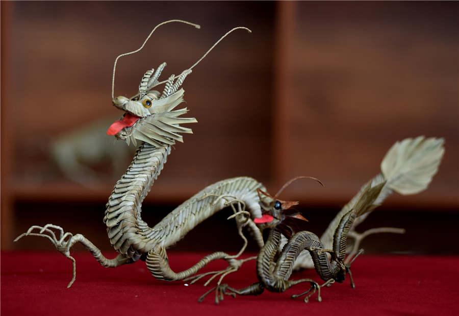Traditional Chinese dragons made by Han Liuye. (Photo provided to chinadaily.com.cn)