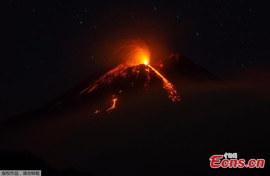 Italy's Mount Etna has been sending lava flows down the mountainside this week in a new eruption. Mount Etna, located in Sicily, is the highest volcano in Europe. (Photo/Agencies)