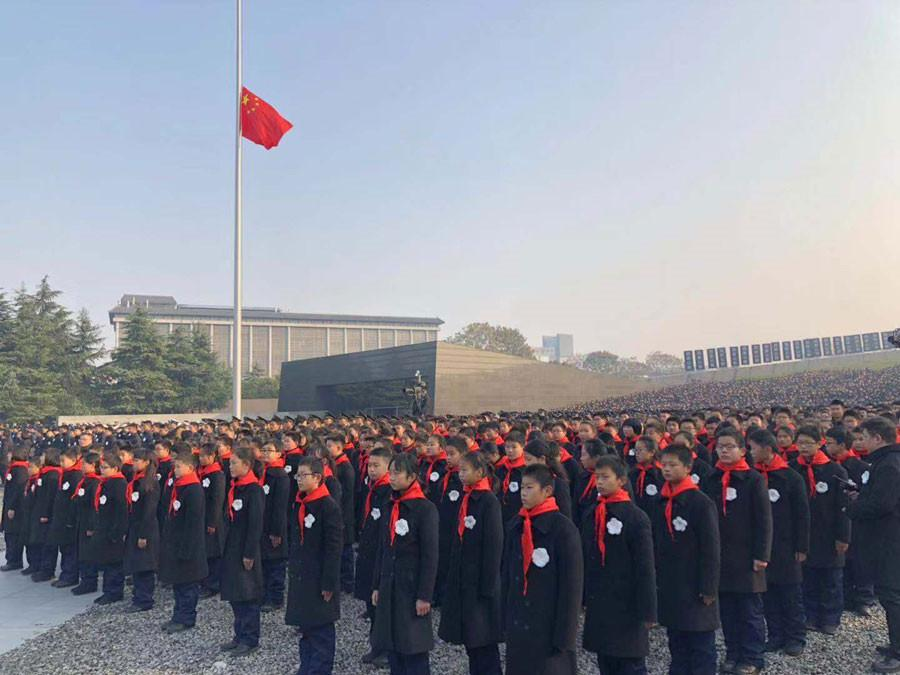 The State ceremony for the National Memorial Day for Nanjing Massacre Victims is held at the memorial hall for the massacre victims in Nanjing, Jiangsu province, Dec 13, 2018. [Photo/Xinhua]