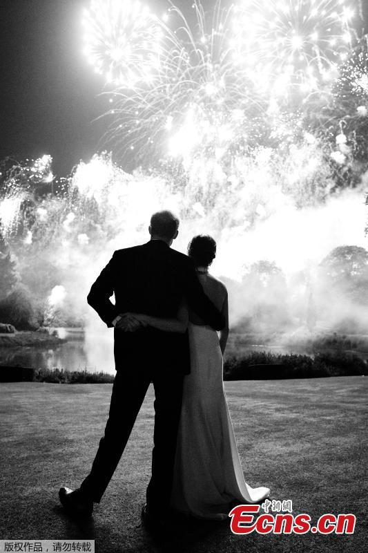 The Duke and Duchess of Sussex have shared a new photograph from their Wedding Reception at Frogmore House on May 19. The photograph, which was taken by photographer Chris Allerton, features on Their Royal Highnesses' Christmas card this year. (Photo/Agencies)