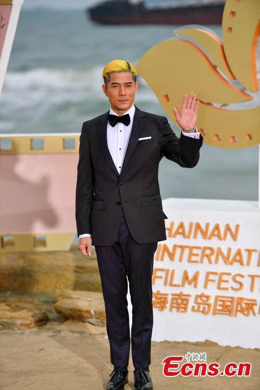 Hong Kong singer and actor Aaron Kwok arrives for the first Hainan International Film Festival in Sanya City, Hainan Province, Dec. 16, 2018. The film festival is one of a series of events in Hainan as the city seeks to build itself into a pilot free trade zone and a free trade port. (Photo: China News Service/Luo Yunfei)