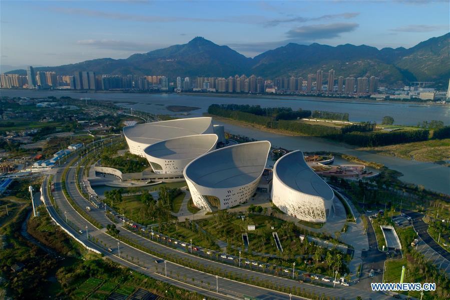 Photo taken on Dec. 16, 2018 shows the Fuzhou Strait Cultural Art Center in Fuzhou, southeast China\'s Fujian Province. The center held open day activities on Sunday. (Xinhua/Jiang Kehong)