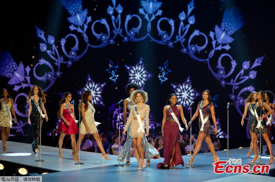 Contestants during the final round of the Miss Universe pageant in Bangkok, Thailand, Dec. 17, 2018. (Photo/Agencies)