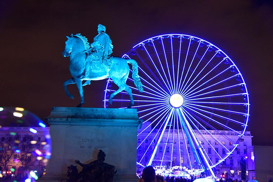 Night scenery of the Place Bellecour in Lyon, France on Dec. 9, 2018. (Photo/chinadaily.om.cn)