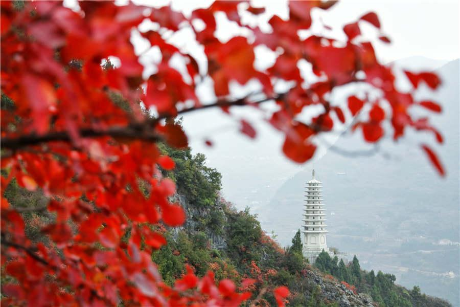 The Wenfeng scenic area is seen on Wushan Mountain. (Photo provided to chinadaily.com.cn)