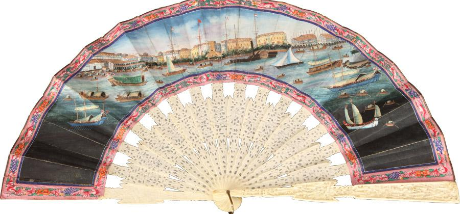 The fans combine Cantonese craftsmanship and Western esthetic tastes.  (Photo provided to chinadaily.com.cn)