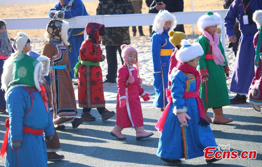 The winter Naadam Fair takes place in Hinggan League, North China\'s Inner Mongolia Autonomous Region, Dec. 20, 2018. The term \