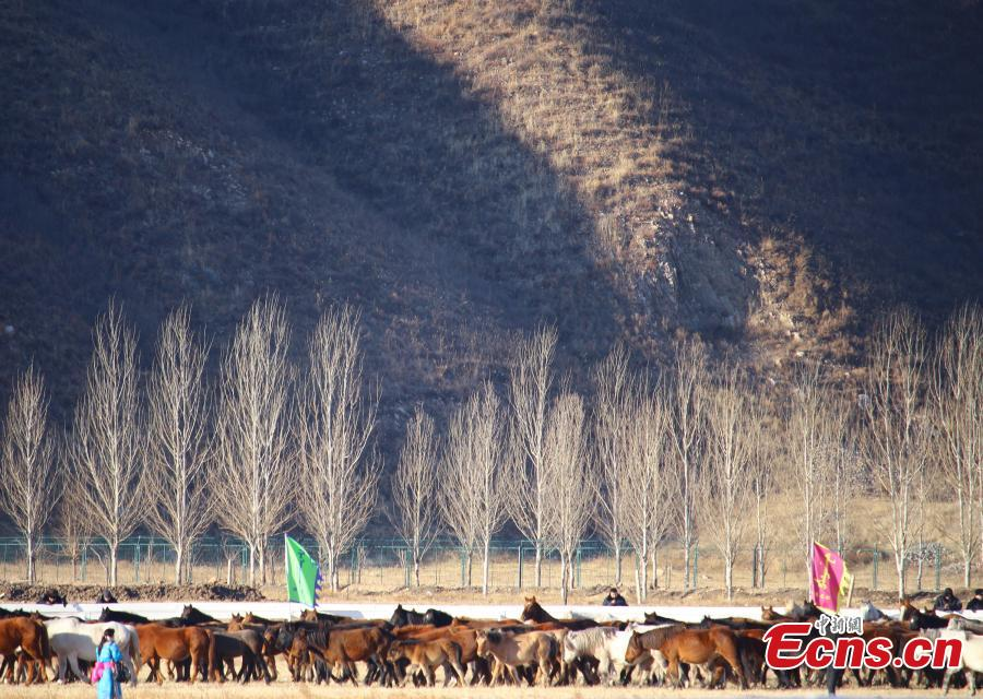 The winter Naadam Fair takes place in Hinggan League, North China's Inner Mongolia Autonomous Region, Dec. 20, 2018. The term \