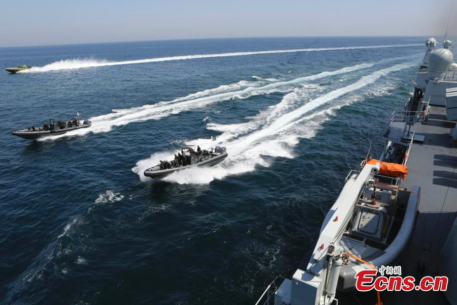 Chinese Navy fleet in a joint maritime drill initiated by Pakistan in the Indian Ocean in March 2013. (Photo: China News Service/Wang Changsong)