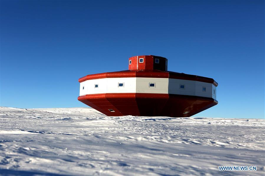 Photo taken on Dec. 26, 2018 shows the main building of China\'s Taishan Station in Antarctica. China started on Wednesday the work of the second phase for the Taishan Station in Antarctica. (Xinhua/Liu Shiping)