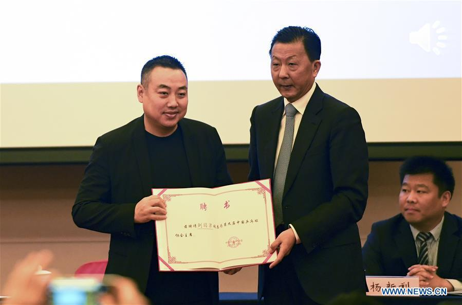 File photo taken on Dec. 1, 2018 shows Liu Guoliang (L) , the former head coach of table tennis team of China is elected as the new president of the Chinese Table Tennis Association. (Xinhua/Tao Xiyi)