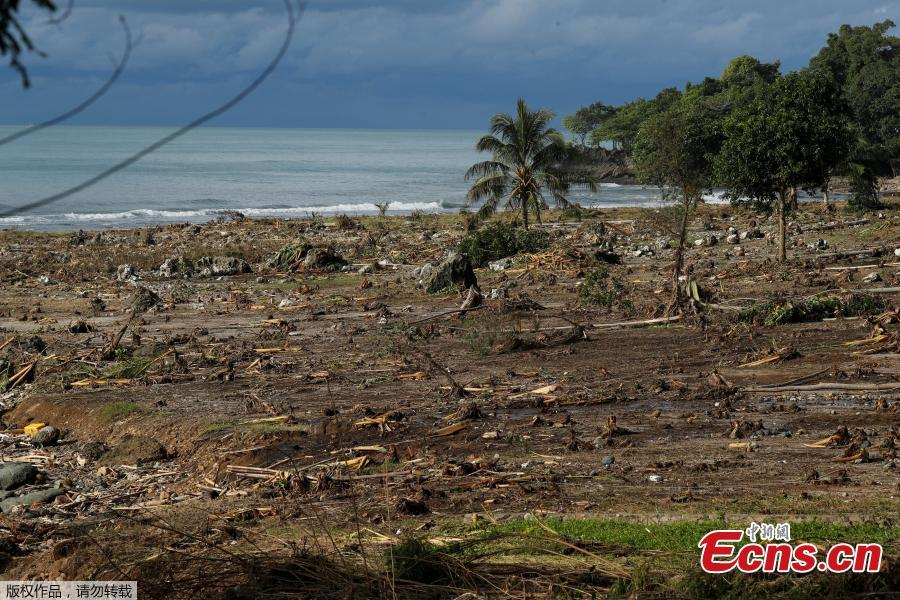 Damaged cars are seen after a tsunami in Banten province, Indonesia, Dec. 26, 2018. Indonesian rescue teams on Wednesday struggled to reach remote areas on the western coast of Java amid an \