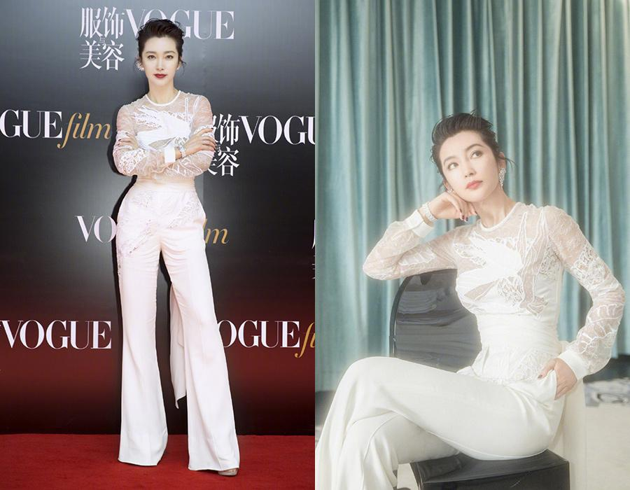 Actress Li Bingbing on the red carpet for the 2018 Vogue Film ceremony in Shanghai, China, June 15, 2018. [Photo provided to chinadaily.com.cn]