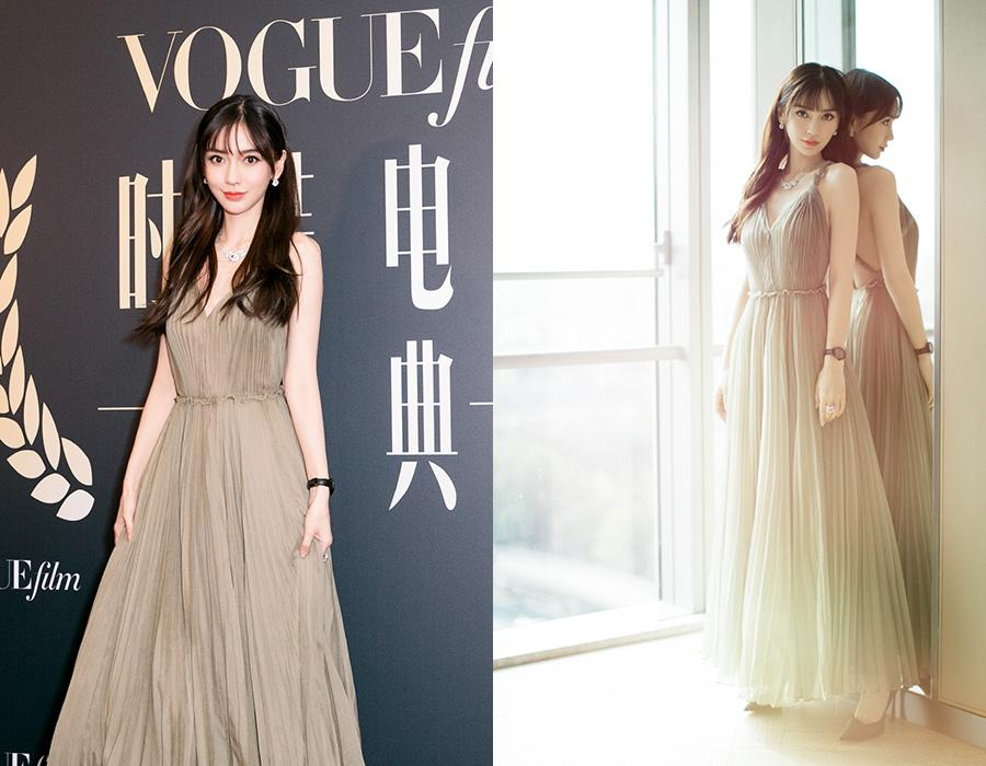 Actress Yang Ying on the red carpet for the 2018 Vogue Film ceremony in Shanghai, China, June 15, 2018. [Photo provided to chinadaily.com.cn]