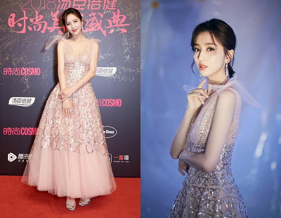 Actress Tong Liya at the red carpet for the 2018 Cosmo Beauty Awards Ceremony in Shanghai, China, Nov 28, 2018. [Photo provided to chinadaily.com.cn]