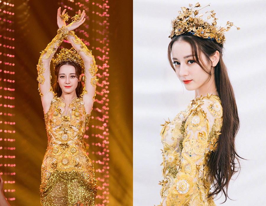 Actress Dilraba Dilmurat on the red carpet for the 2018 China Golden Eagle TV Art Festival on Oct 15,2018. [Photo provided to chinadaily.com.cn]